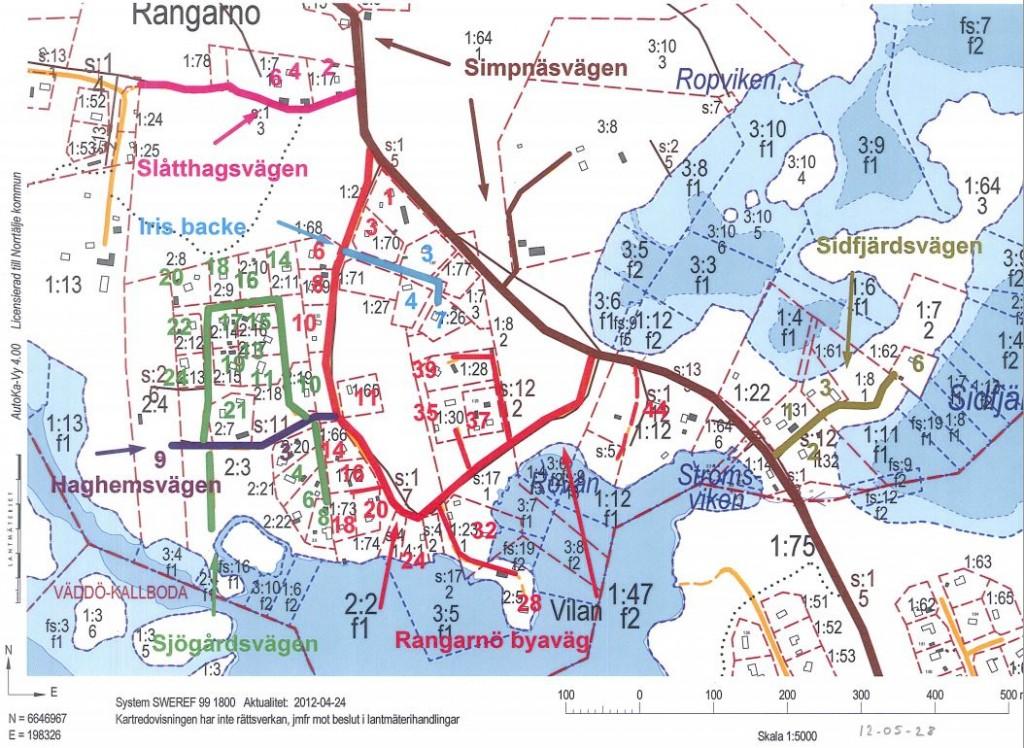Vägnamnen i Rangarnö